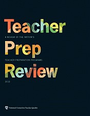 NCTQ Teacher Prep Review 2013, cover.