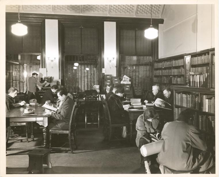 New York Public Library, Jackson Square Branch, ca. 1930. Photographer unknown.