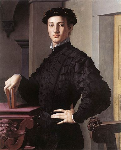 "Agnolo Bronzino, ""Portrait of a Young Man,"" oil on panel, ca. 1535-40."