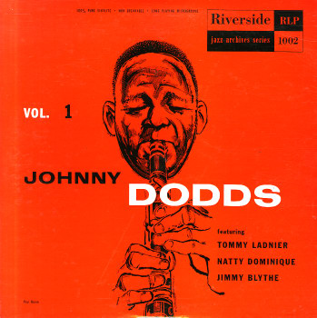 Johnny Dodds, Riverside LP, cover.