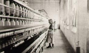 "Lewis Hine, ""Girl Worker in Carolina Cotton Mill,"" 1908."