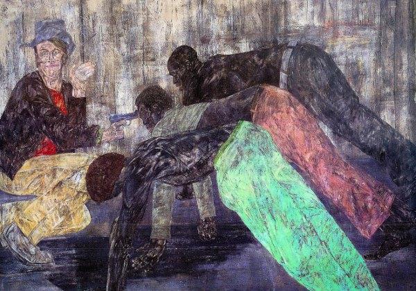 "Leon Golub. ""Mercenaries V,"" painting, 1984."