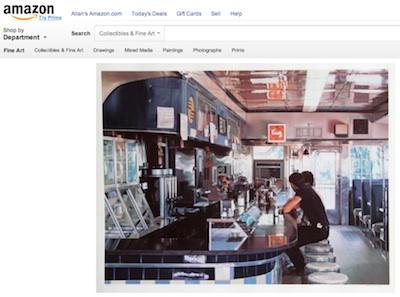 "Ralph Goings, ""Diner, 1990"" (poster), Amazon, screenshot."