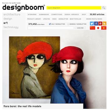Designboom.com, Flora Borsi feature, screenshot, 9-15-13.