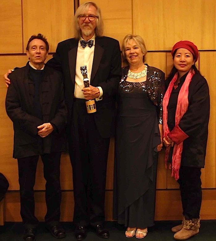 (L-R) A. D. Coleman, Arno Minkkinen, Sandy Minkkinen, Anna Lung, 10-27-13. Photo by Daniel Minkkinen.
