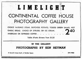 Limelight ad, Village Voice, 1950s.