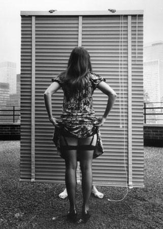"Arno Rafael Minkkinen, ""Sandra: Venetian Blinds, NY,"" 1972."