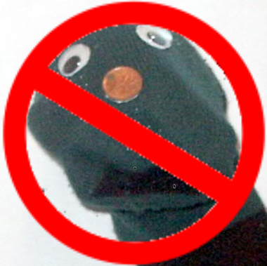 """No Sockpuppets"" icon"