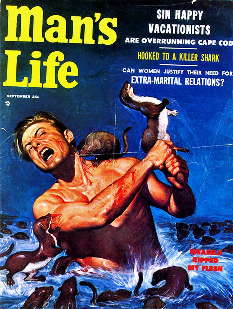 Man's Life, September 1956, cover