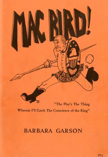 """Barbara Garson, """"MacBird"""" (1967), cover"""