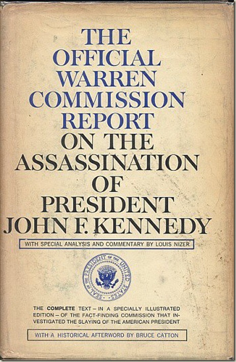 Warren Commission Report (1964), cover