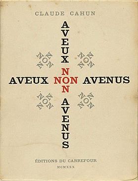 """Claude Cahun, """"Aveux non avenus"""" (1930), cover"""