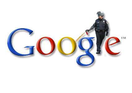 John Pike with Google logo. Anonymous collage.