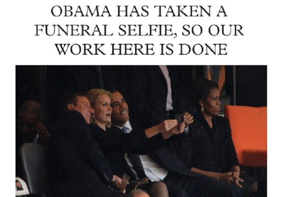 Selfies at Funerals, screenshot, 12-10-13