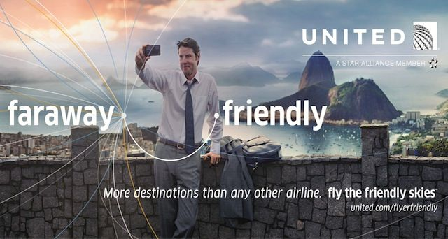 "United Airlines, ""Friendly Skies"" ad campaign, fall 2013."