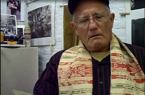 Chris Brant as A. D. Coleman, video by Alex Harsley, 10-10-13, screenshot