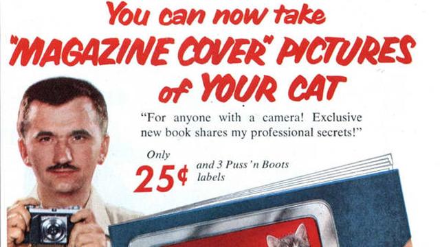 Walter Chandoha, Puss 'n' Boots ad, 1955