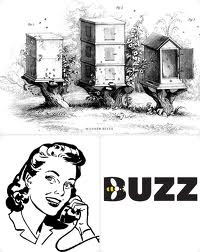 beehives, phone, buzz - 1950s graphics