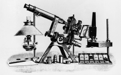 Powell & Lealand No. 1 microscope, engraving