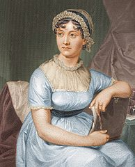 "Jane Austen, from a drawing by her sister Cassandra. ""Courtesy of the University of Texas Libraries, The University of Texas at Austin."