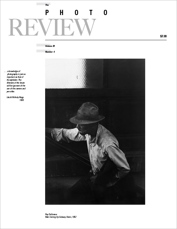 Photo Review, vol. 30, no. 4 (December 2013), cover