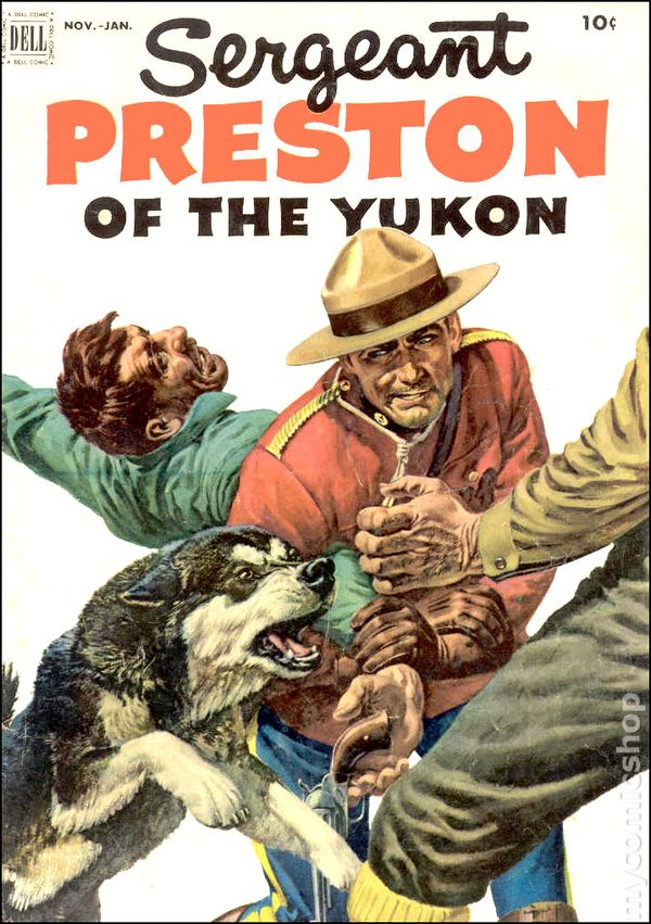 """Sergeant Preston of the Yukon"" #5 (Nov. 1952-Jan. 1953), Dell Comics, cover"