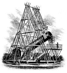William Herschel's 40-foot telescope, 1789.
