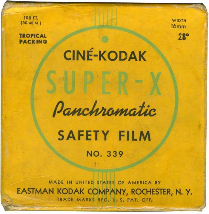 Ciné-Kodak Super-X film package