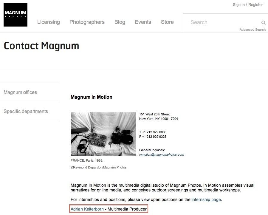 Magnum Photos website, screenshot, 2014-10-17 at 5:23:38 p.m.