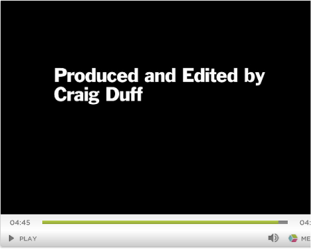 "Craig Duff, ""The Iconic Photo of D-Day,"" video (2009), credits, screenshot."