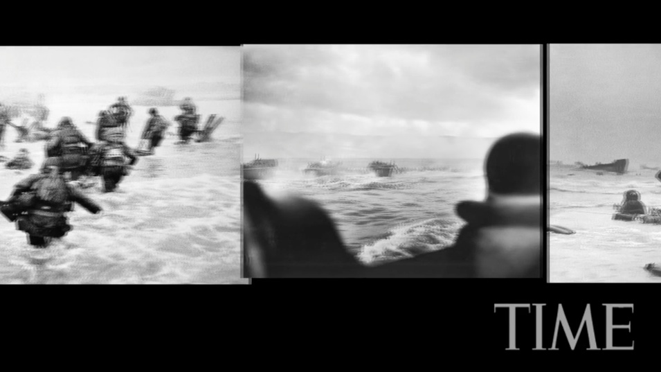 "Craig Duff, ""The Iconic Photo of D-Day,"" video (2009), screenshot."