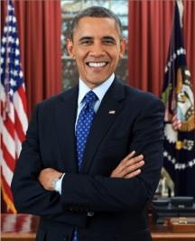"""Pres. Barack """"We tortured some folks"""" Obama, official portrait, December 2012."""