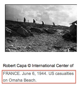 Robert Capa, Magnum website screenshot