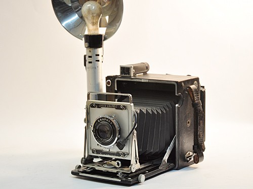 Speed Graphic 4x5 camera, circa 1940