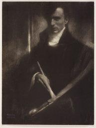 "Edward Steichen, ""Self-Portrait with Brush and Palette,"" 1902"