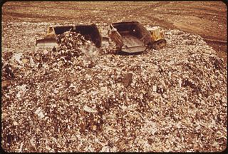 Landfill at Fresh Kills, Staten Island (just opposite Carteret, NJ), 1973. Photograph by Chester Higgins, Jr. Courtesy Environmental Protection Agency.