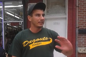 NYPD officer Daniel Pantaleo at the scene of Eric Garner's homicide, July 17, 2014, Youtube screenshot