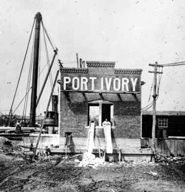 Port Ivory pump house under construction, Staten Island, ca. 1907
