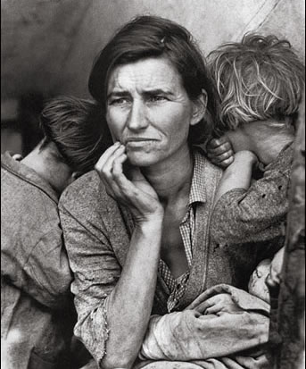 "Dorothea Lange, ""Migrant Mother, Nipomo, Ca., 1936"""