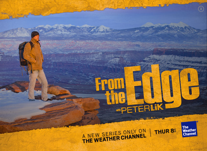 "Peter Lik, ""From the Edge,"" Weather Channel logo"