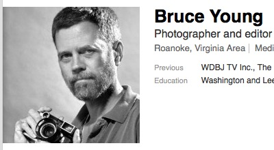Bruce Young, LinkedIn profile, screenshot