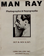 Lunn Gallery, Man Ray exhibition catalog (1971), cover