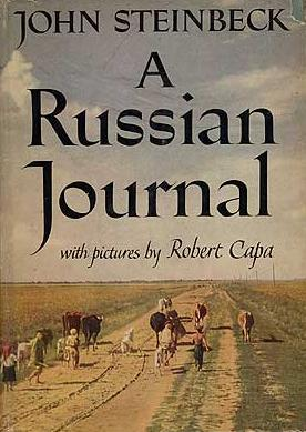 "John Steinbeck and Robert Capa, ""A Russian Journal"" (1948), cover"