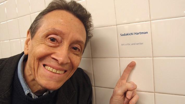 ADC with Sadakichi Hartmann's hat, New York, May 15, 2015 (b). Photo © 2015 by Anna Lung.