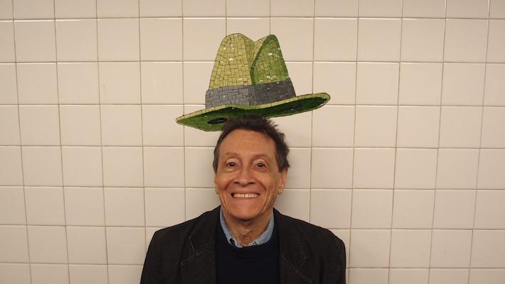 ADC with Sadakichi Hartmann's hat, New York, May 15, 2015 (c). Photo © 2015 by Anna Lung.