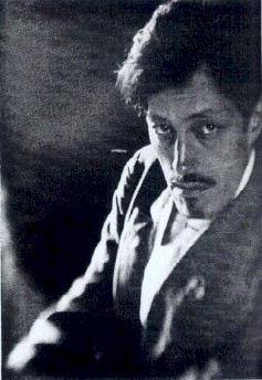Charles Fournier, portrait of Sadakichi Hartmann (1917)