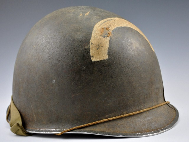 U.S. Army Engineers' helmet with insignia, WWII (a)