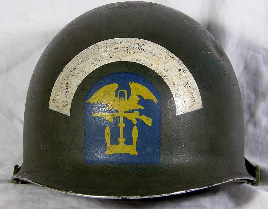U.S. Navy Engineers' helmet with insignia, WWII (a)