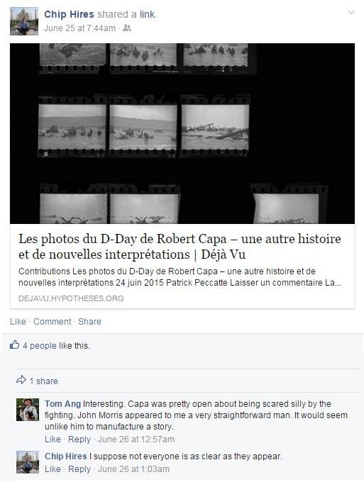 Chip Hires, Facebook, June 25, 2015, screenshot