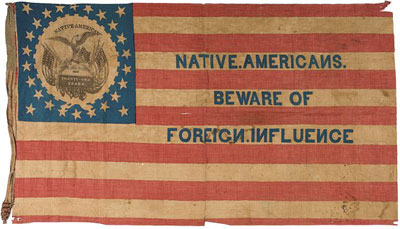 Native American Party flag, ca. 1840